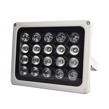 лучшая цена 90 Degree AC 220V 20Pcs LED 850nm Infrared IR Light Lamp IP65 Waterproof Night Vision Infrared CCTV Fill Light for CCTV Security