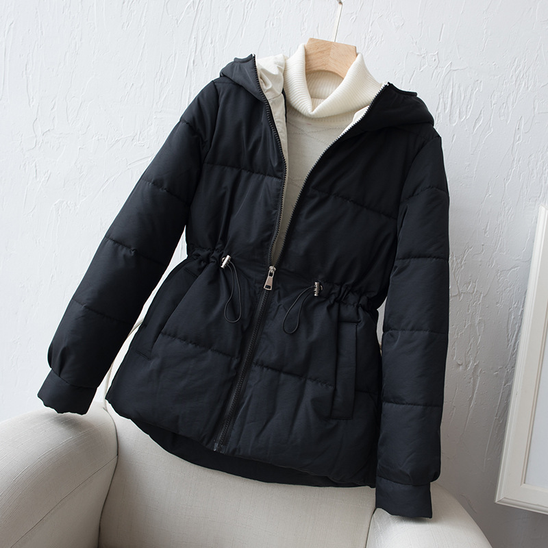 2019 New Full Zipper   Parka   Fashion Cotton-padded Jacket Hooded Warm Winter Jacket Women Solid Winter Coat