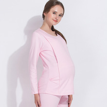 3fc02a13badac YN Autumn And Winter Cotton Confinement Serve Postpartum Lactation Pajamas Pregnant  Long Johns Thickening Keep Warm