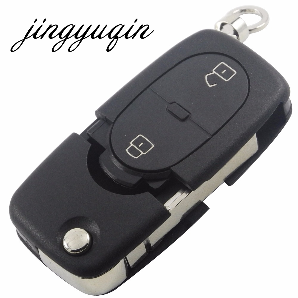 jingyuqin 10pcs lot 2BTN Flip Folding Remote Key Shell Cover fit for Audi A2 A3 A4