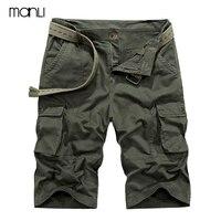 Manli hombres shorts verano senderismo militar shorts sin cinturón suelta transpirable hombres escalada trekking cargo pantalones cortos más tamaño 42