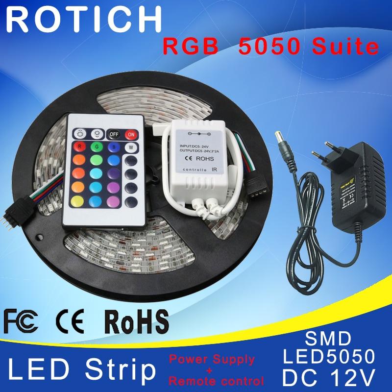 Купить 5 м rgb светодиодная лента гибкая smd 5050 и ик пульт дистанционного
