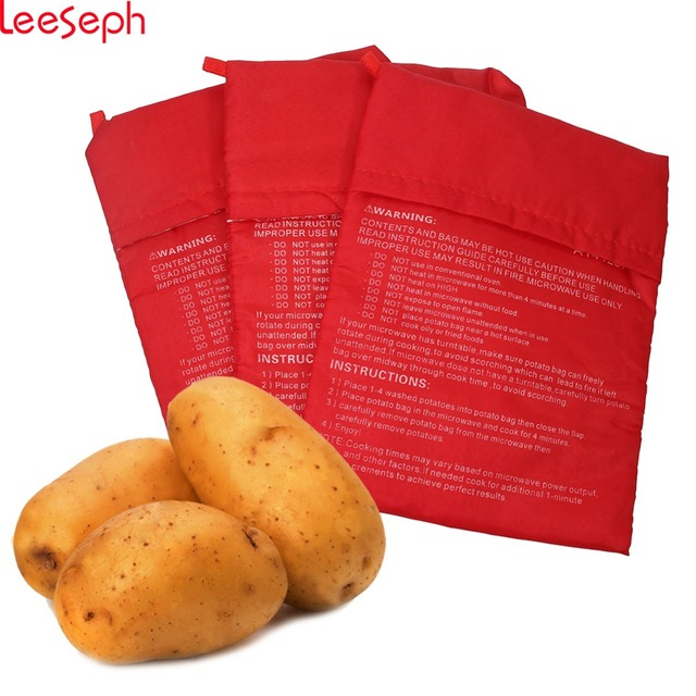 3 Pack Microwave Potato Bag Red 10 Inch