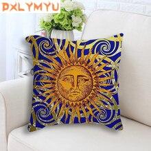 Cushion Cover The Sun Cartoon Symbol of Power Picture Cotton Linen Sofa Home Decorative Pillow case Car