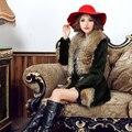 Fur Vest Direct Selling Belt 2016 New Winter Haining Large Raccoon Fur Collar Integral Skin In The Section Of Rabbit Coat Brigor