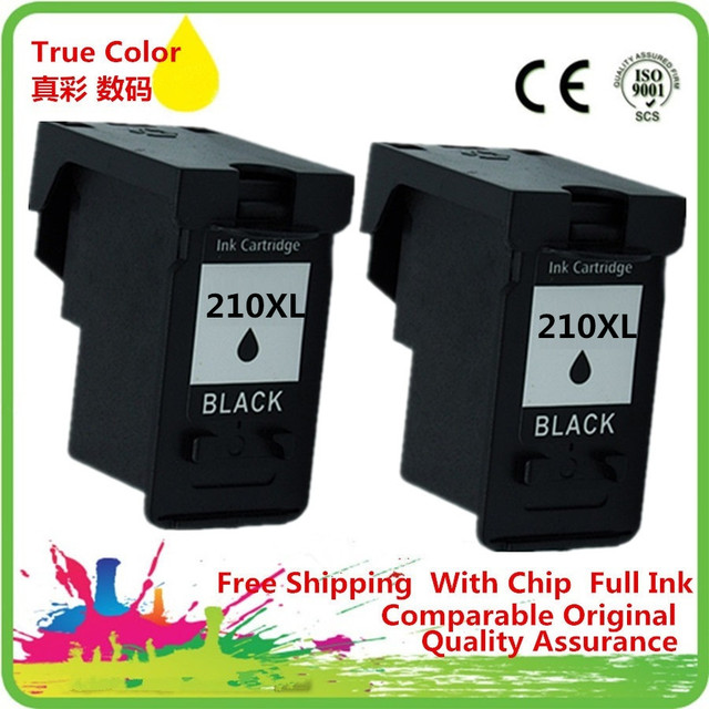 2 Bk Ink Cartridge Remanufactured For Canon PG 210 210XL PG210