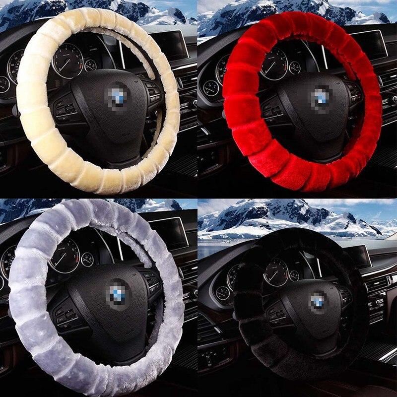 1 PC Soft Warm Plush Car Steering Wheel Cover Universal Auto Supplies Car styling Car Accessories 38cm
