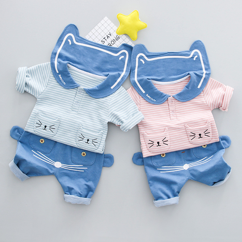 Newborn Infant Baby Boys Clothing Sets 2018 Spring Casual Stripe T-shirt Top+Pants 2pcs Outfits Set 0-2Yes Baby Girls Clothes camouflage 2016 new newborn baby boys kids shirt top long pants army green baby boys clothing outfit clothes set