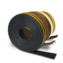 5m P type Seal Strip Doors and Windows seal strip in doors shape windproof noise insulation dustproof Foam Adhesive rubber