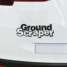 18*6.8cm Ground Scraper Funny Car Window Bumper Novelty JDM Drift Vinyl Decal Sticker Car Bumper Sticker iron cross novelty german car van window bumper vinyl sticker decal