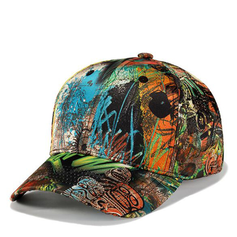 Europe America Personality Graffiti Adult   Baseball     Caps   Spring Summer Polyester Peaked Hats For Men Brand Snapback Casquette