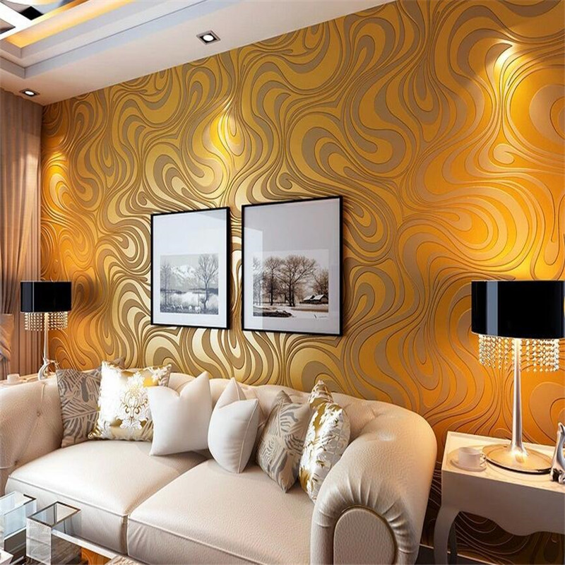 0.7 m * 8.4 m rotoli di carta da parati Cospargere oro damascate parete rotolo di carta moderna stereo murale della carta di parete per soggiorno camera 5 colori