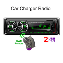 цена на 538 Car Charge Radio Fixed panel Two USB FM 12V  Car Audio MP3 WMA player Bluetooth AUX SWC Remote 7388IC for 32GB SD MMC RK-538
