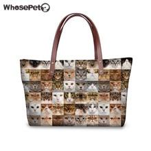 WHOSEPET Katzen Hunde Tragetaschen für Frauen Mode Tiere Druck Handtaschen für Mädchen Hohe Qualität Wasserdichte Umhängetasche Neopren