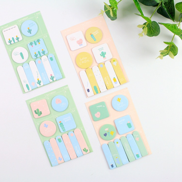 Fruit And Cactus Self-Adhesive Memo Pad Sticky Notes Bookmark School Office Supply kitfel58024unv35668 value kit fellowes polyester mouse pad fel58024 and universal standard self stick notes unv35668