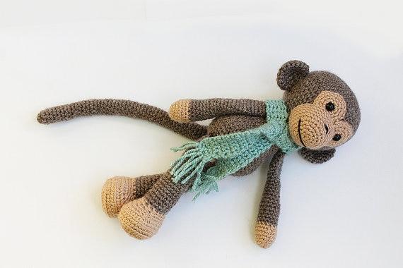 Häkeln Affe Spielzeug-Amigurumi Affe Spielzeug-häkeln Affe | Etsy | 380x570