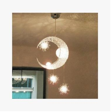 child lighting pendant lamp NEW EMS FREE SHIPPING Aluminum wire aluminum wire pendant light lamps moon brief  ZCL ems free shipping fashion pendant light rustic lighting wrought iron pendant light brief lamps pendant lamp