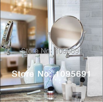 Bathroom Mirror 8 Cosmetic Double Sided 1X 3X Magnification High Quality Chrome Plated