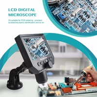 Hot Sale 1 600x 3.6MP USB Digital Electronic Microscope Portable 8 LED Microscope With 4.3 HD OLED Screen For Motherboard Repair