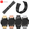 Watch Band Metal Stainless Steel Watchband For Garmin Fenix 3/HR Replacement Wrist Strap Watch Band With Tools Butterfly Clasp