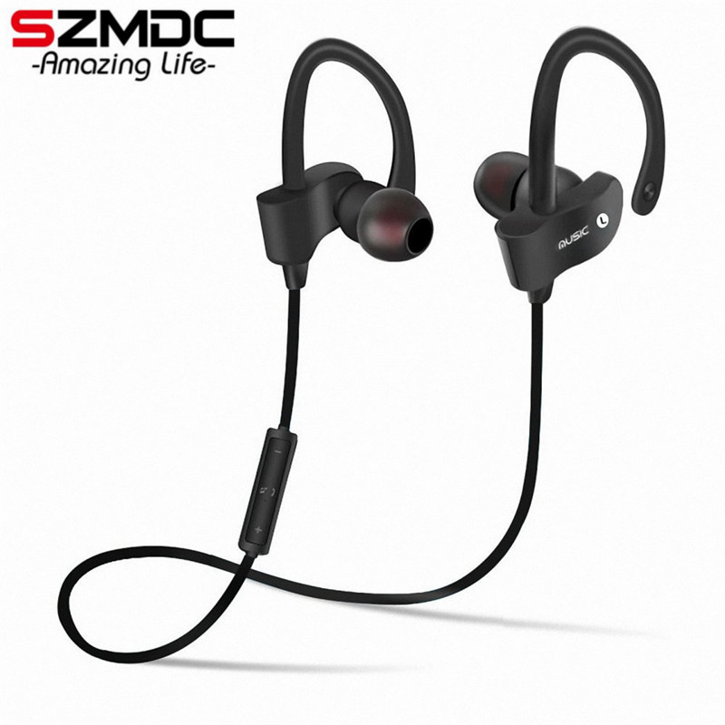 SZMDC 56S Sports Wireless Bluetooth Earphone Stereo Earbuds Headset Bass Earphones with Mic In-Ear for iPhone 6 Samsung Phone sports bluetooth earphone 4 1 stereo earbuds wireless headset bass earphones with mic in ear for iphone 7 samsung xiaomi