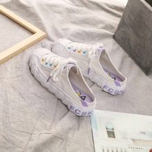 Liren 2019 Summer New Casual Lady Canvas Shoes Slingback Comfortable Breathable for Sport Lace-up Women Designer Sneakers