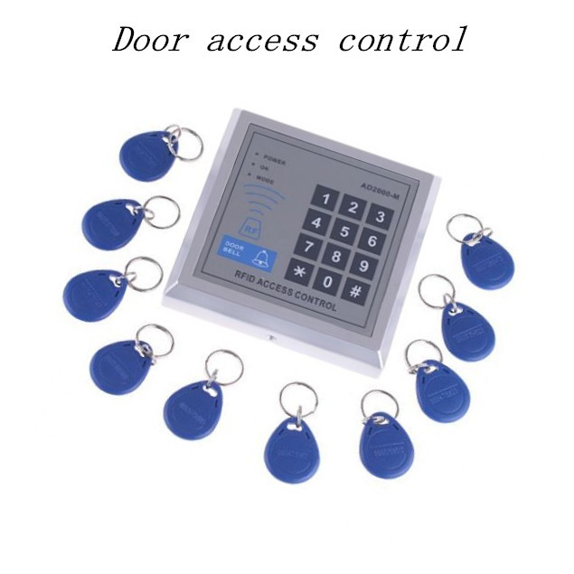 Free Shipping Security RFID Proximity Entry Door Lock Access Control System 500 User With 10 Keys security rfid proximity entry door lock access control system 500 user 10 rfid keyfobs with english user manual
