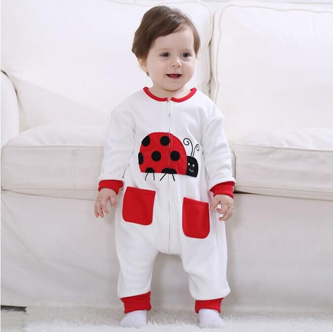 Androkton Newborn Infant Baby Clothes Pure Cotton Lovely Beetles Romper Hooded Jumpsuit Onesie Cosplay Boys Girls Spring Costume