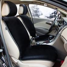Mat Car-Seat-Cover Protector-Pad Plush-Cushion Auto-Supplies Front Warm Winter Short