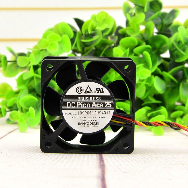Новый оригинальный 109R0612HS4011 6 см/см 6025 12В 0.19A мощный ультра-тихий вентилятор