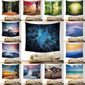 Decorative Mandala Forest Wall Hanging Tapestry Bohemian Macrame Wall Art Blanket Home Decor Multicolor Bedroom Sheets Yoga Mat