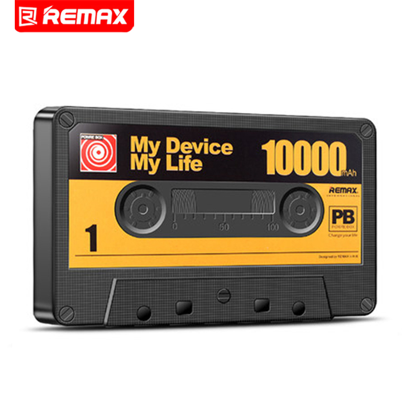 Remax 10000mAh Tape Design Mobile Phone Large Capacity Mobile Power Bank General Charge Treasure Extra Power