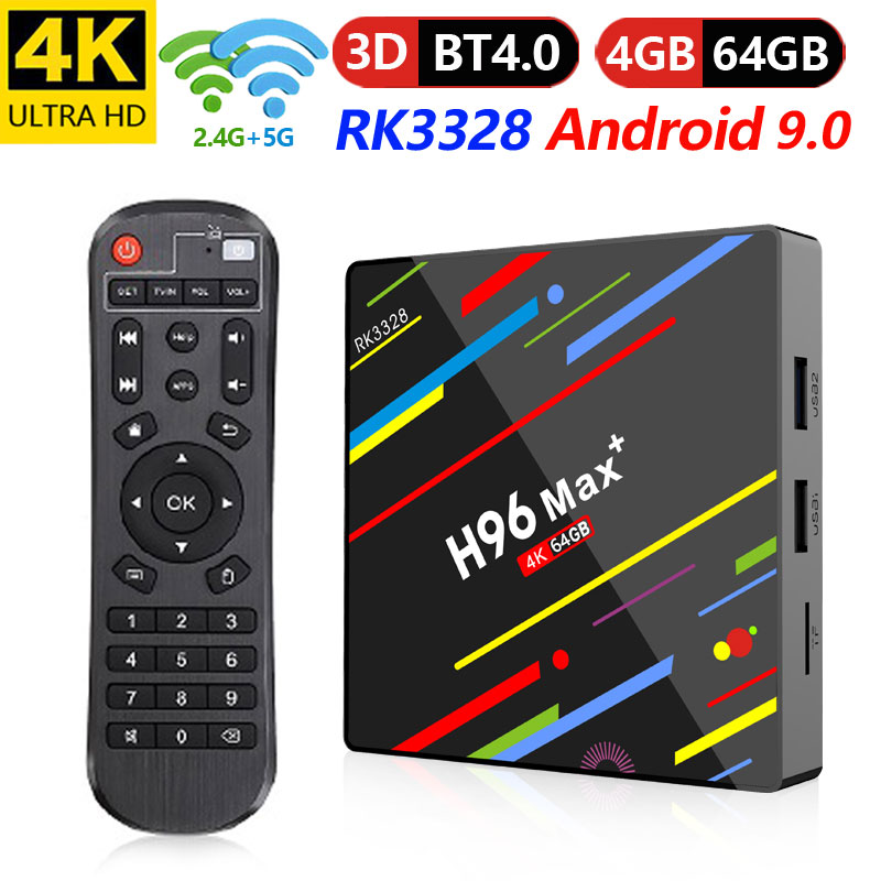 Excel Digital Latest Android 9.0 Quad Core 4GB 32GB 64GB RK3328 TV Box A H96 Max Plus With 2.4G/5Ghz Wifi And KD 18.0