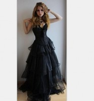 Dark Blue Corset Prom Dresses Special Style Sexy Sweetheart Ruched Organza Girls Evening Party Gowns Vestido