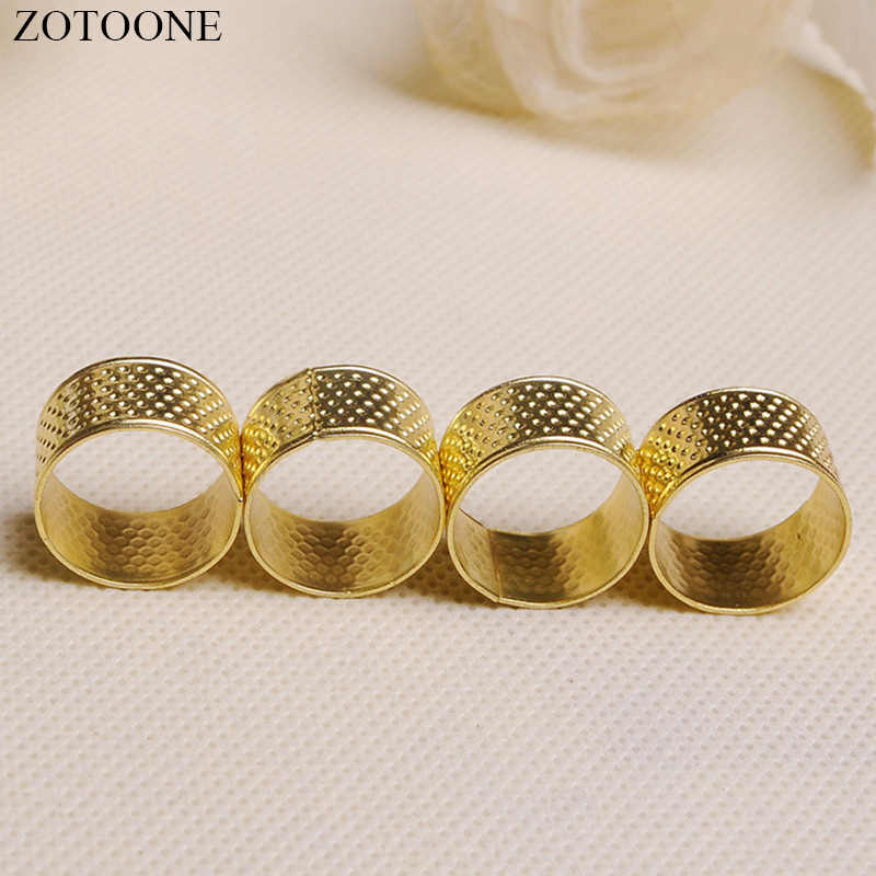 ZOTOONE Knitting Needles Accessories 1pc Round Copper Thimble Useful Sewing Tools for Sewing Supplies Handicraft Accessories