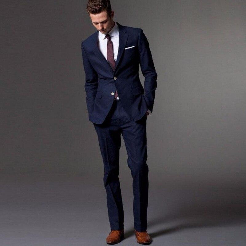 Costumes pour hommes sur mesure, costume pour hommes bleu foncé sur mesure costume de mariage pour hommes