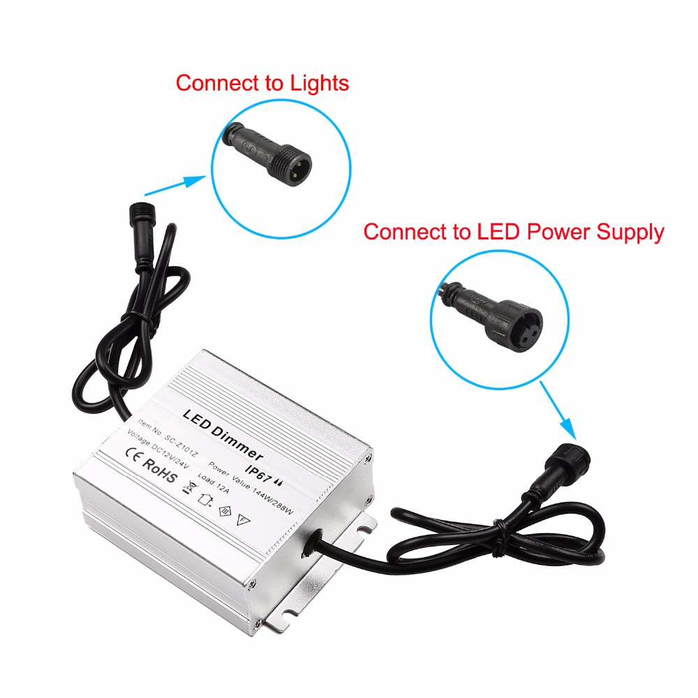 DC12V / 24V 144 / 288W LED Deck Light Dimmers modul idarəedicisi - İşıqlandırma aksesuarları - Fotoqrafiya 5