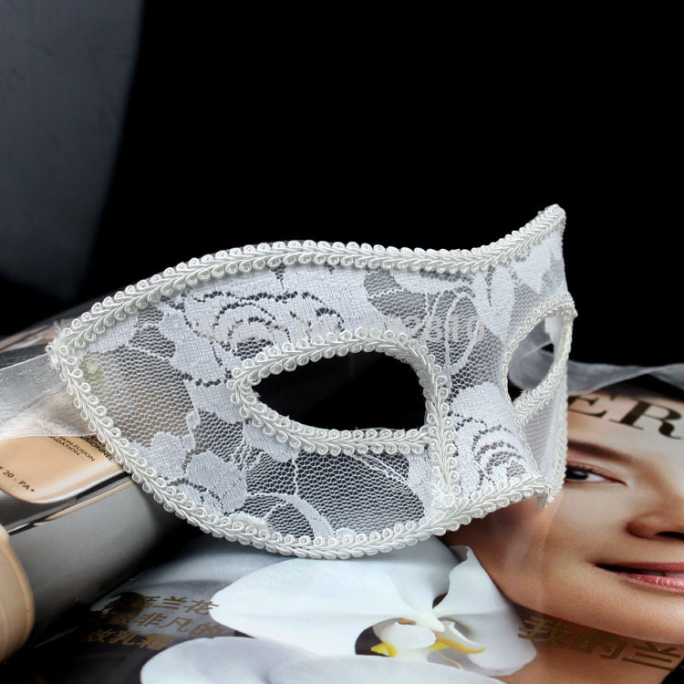 New Arrivals Top Grade Half Face Lace Masks Costume Ideas White Masks For Lady 20pcs/lot MA12-in Party Masks from Home u0026 Garden on Aliexpress.com | Alibaba ... : masquerade mask costume ideas  - Germanpascual.Com