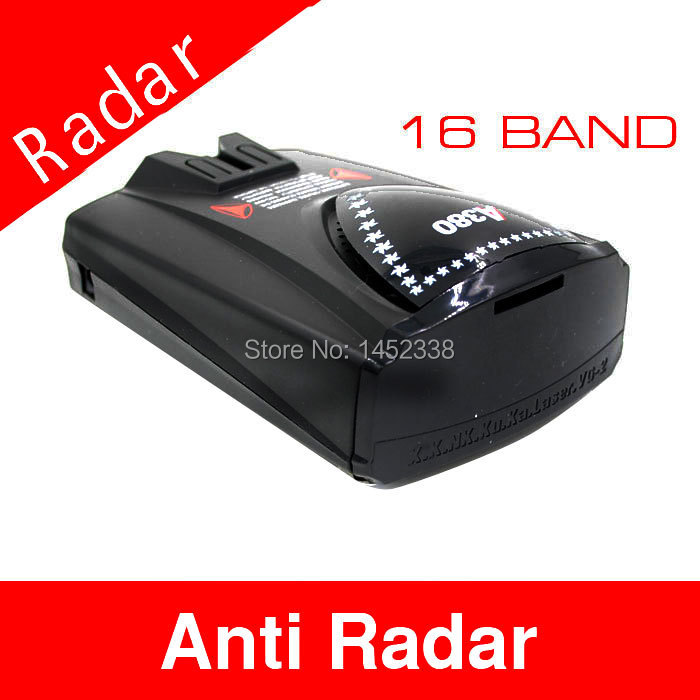 Car anti speed Radar Detector 360 Voice Alert Russian or English Voice Radar Detector Free Shipping