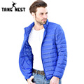 TANGNEST Solid Down Jacket 2017 Stand Collar Typical Men's Fashion New Arrival Candy Color Male Warm Down Coat MWY224