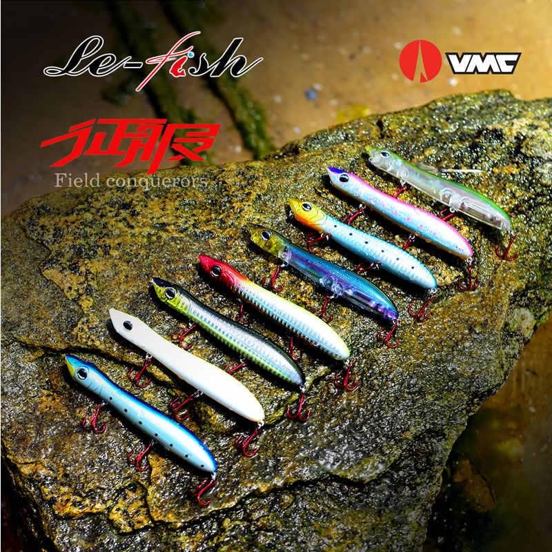 Le-Fish 1 قطعة 125 مللي متر 18 جرام الأفعى رئيس الصيد إغراء العائمة البحر باس المتذبذب بايك الطعم Topwater بوبر مع VMC السنانير
