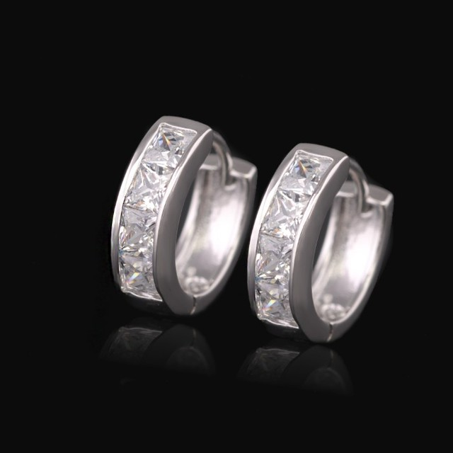 Platinum Hoop Earrings Melbourne ✓ Earrings Jewelry