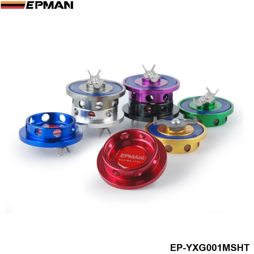 NEW EPMAN Billet Silver Engine Oil Filter Filter Cap Tank Fuel for Mitsubishi Jdm EP-YXG001MSHT