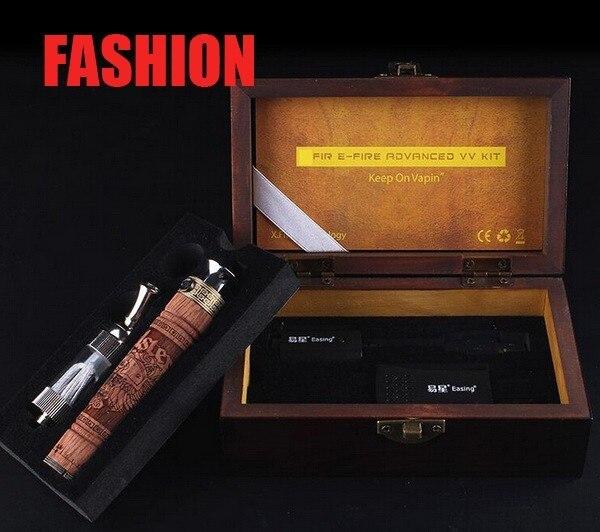 2017 New X Fire 2 Wood Tube E-cigarette E fire E cig Electronic Cigarette Kits Ego vv Mod Vaporizer Pen Wood Efire Battery Kit