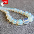 Necklace 6-14mm Sri Lanka Natural Moonstone Round opal beads 18inch Jasper Necklace women gift Jewelry making design wholesale
