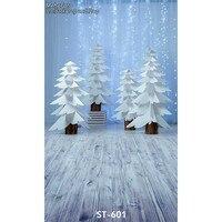 Винил фотографии Задний план белый Бумага дерево Задний план пользовательские Рождество фотографии фонов реквизит для Аксессуары для фото...