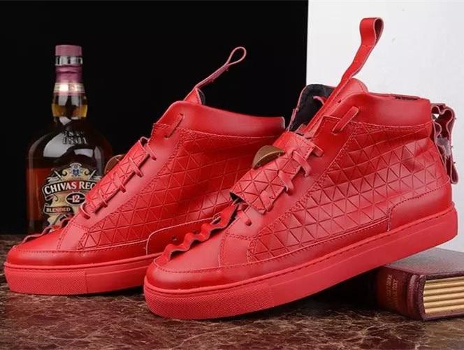 Men Fashion Casual Shoes Triangle Mens