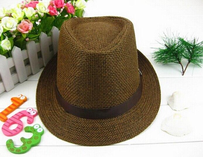 1 Pc Mode Damen Herren Unisex Fedora Trilby Gangster Cap Sommer Strand Sonne Flachs Jazz Hut Paare Liebhaber Hut