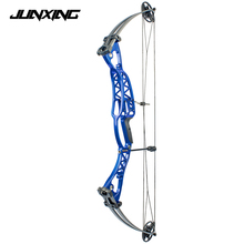 2 Color Compound Bow 40-60lbs Aluminum Alloy Slingshot with Peep Sight for Adult Hunter Outdoor Hunting Shooting