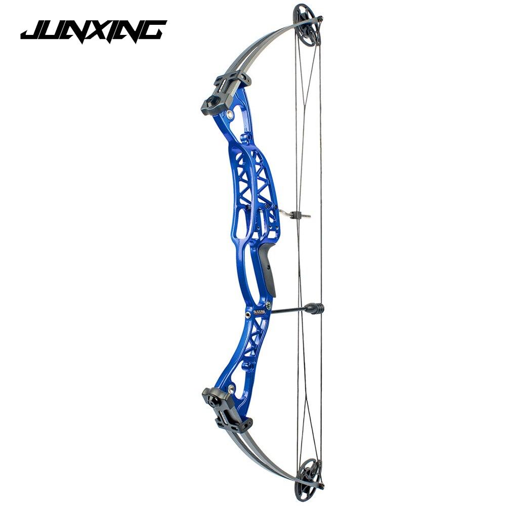 2 colores arco compuesto 40-60 lbs aleación de aluminio Slingshot arco con vista Peep para adultos Hunter exterior caza tiro